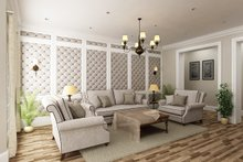 Architectural House Design - Ranch Interior - Family Room Plan #45-574