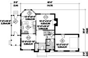 Traditional Style House Plan - 3 Beds 1 Baths 1837 Sq/Ft Plan #25-4766 Floor Plan - Main Floor Plan