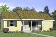 Ranch Style House Plan - 4 Beds 2 Baths 1040 Sq/Ft Plan #116-257 Exterior - Front Elevation