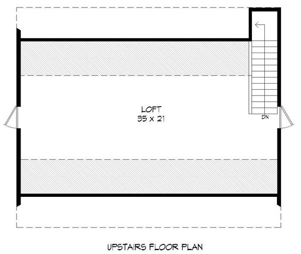 Southern Floor Plan - Upper Floor Plan #932-106