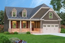 Dream House Plan - Craftsman Exterior - Front Elevation Plan #419-220