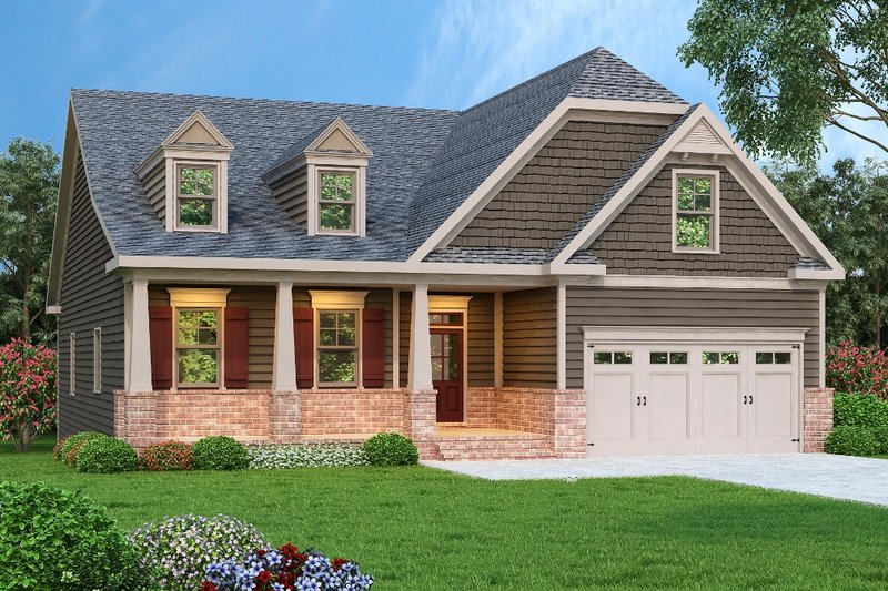 Craftsman Exterior - Front Elevation Plan #419-220