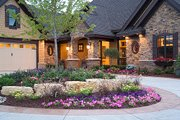 Craftsman Style House Plan - 4 Beds 3.5 Baths 5832 Sq/Ft Plan #51-414 Exterior - Front Elevation