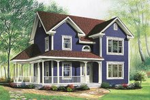 Country Exterior - Front Elevation Plan #23-263