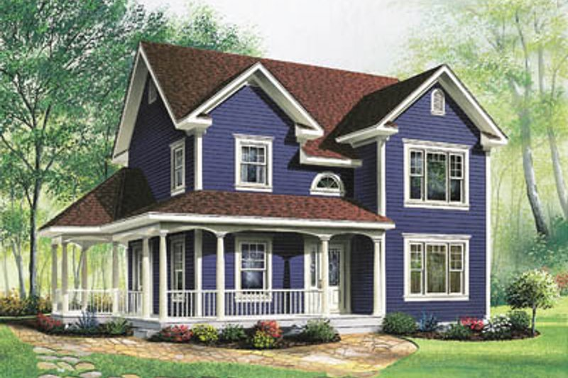 House Plan Design - Country Exterior - Front Elevation Plan #23-263