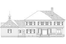 Traditional Exterior - Rear Elevation Plan #137-292