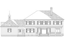 Dream House Plan - Traditional Exterior - Rear Elevation Plan #137-292