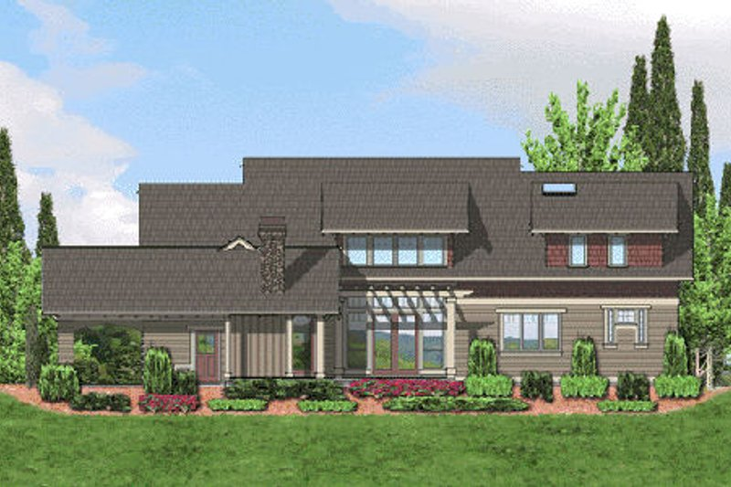 Craftsman Exterior - Rear Elevation Plan #48-364 - Houseplans.com