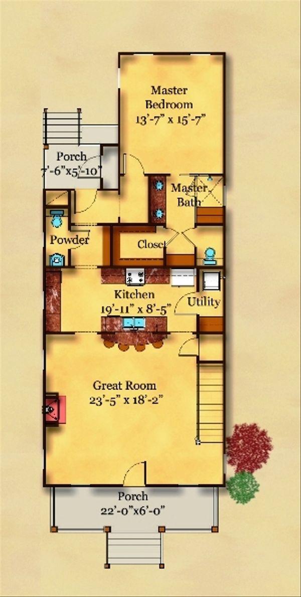 Traditional Floor Plan - Main Floor Plan Plan #442-5