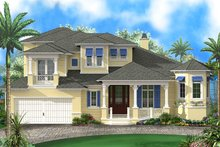 Beach Exterior - Front Elevation Plan #27-514