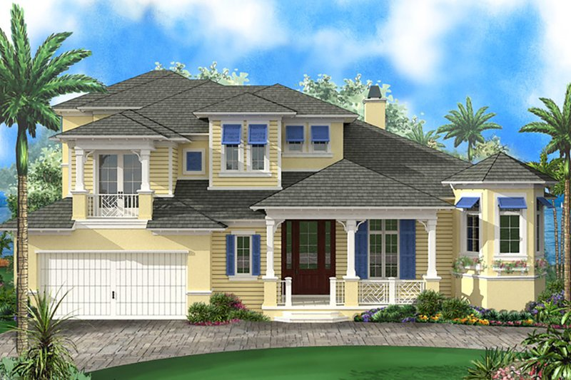 Dream House Plan - Beach Exterior - Front Elevation Plan #27-514