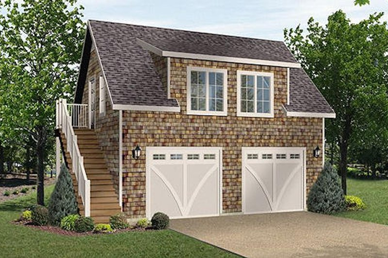 House Plan Design - Country Exterior - Front Elevation Plan #22-545
