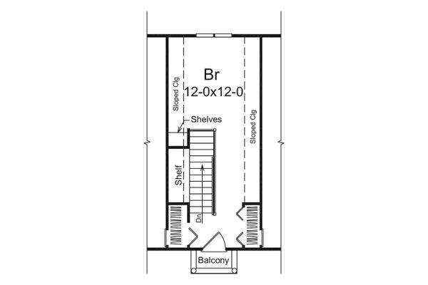 Dream House Plan - European Floor Plan - Upper Floor Plan #57-675