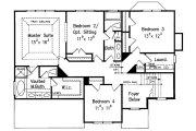Colonial Style House Plan - 5 Beds 3 Baths 2361 Sq/Ft Plan #927-21 Floor Plan - Upper Floor Plan