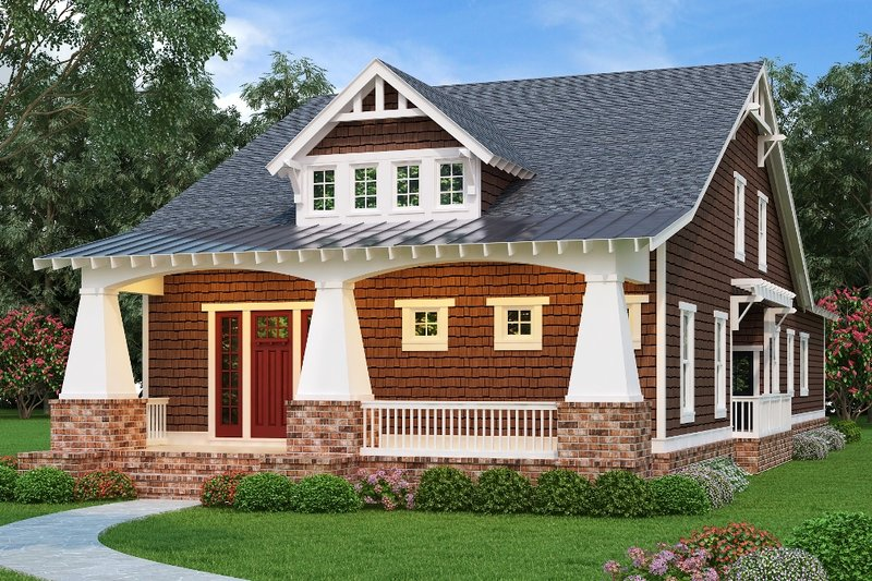 Bungalow Exterior - Front Elevation Plan #419-239
