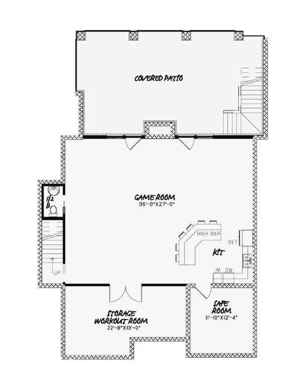 European Floor Plan - Lower Floor Plan Plan #17-3373
