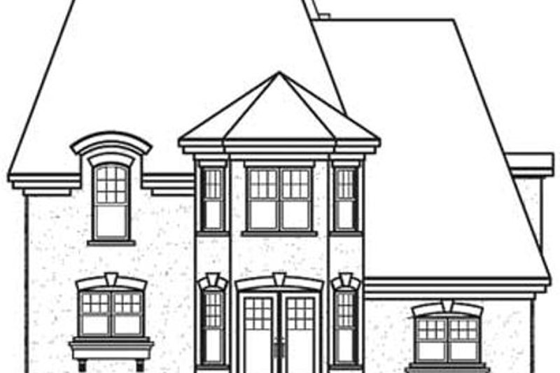 European Exterior - Rear Elevation Plan #23-574 - Houseplans.com