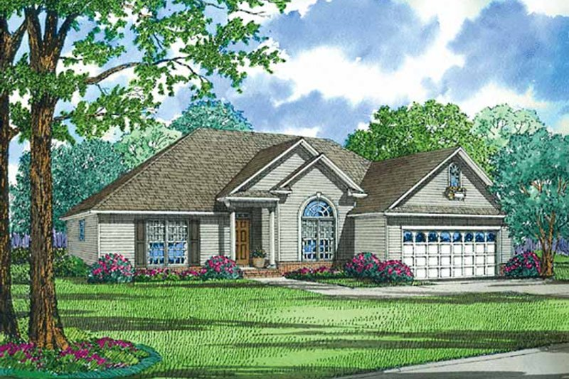 Ranch Exterior - Front Elevation Plan #17-3186