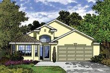Architectural House Design - Mediterranean Exterior - Front Elevation Plan #417-824