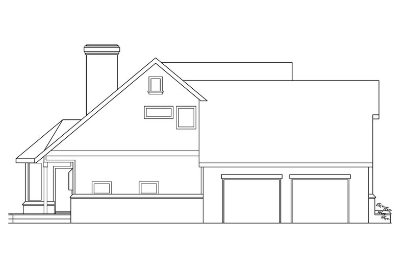 Farmhouse Exterior - Other Elevation Plan #124-187 - Houseplans.com