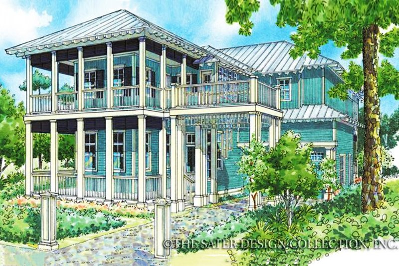 Dream House Plan - Country Exterior - Front Elevation Plan #930-88