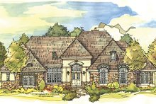 House Plan Design - European Exterior - Front Elevation Plan #929-930