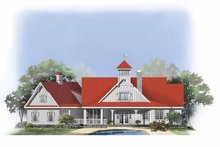 House Design - Country Exterior - Rear Elevation Plan #929-807