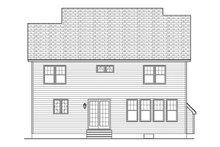 Colonial Exterior - Rear Elevation Plan #1010-130
