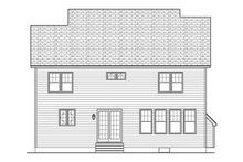 Colonial Exterior - Rear Elevation Plan #1010-130