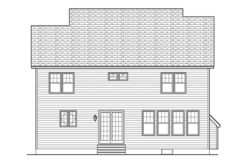 Colonial Exterior - Rear Elevation Plan #1010-130 - Houseplans.com