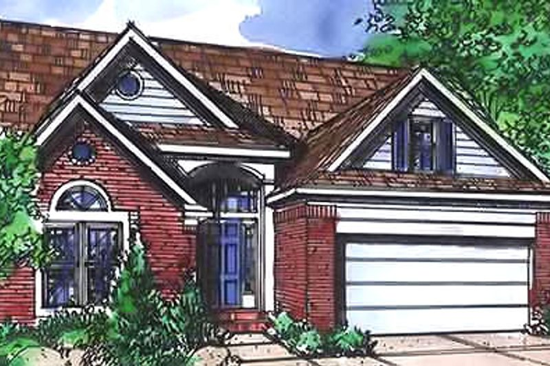 Traditional Exterior - Front Elevation Plan #320-450 - Houseplans.com