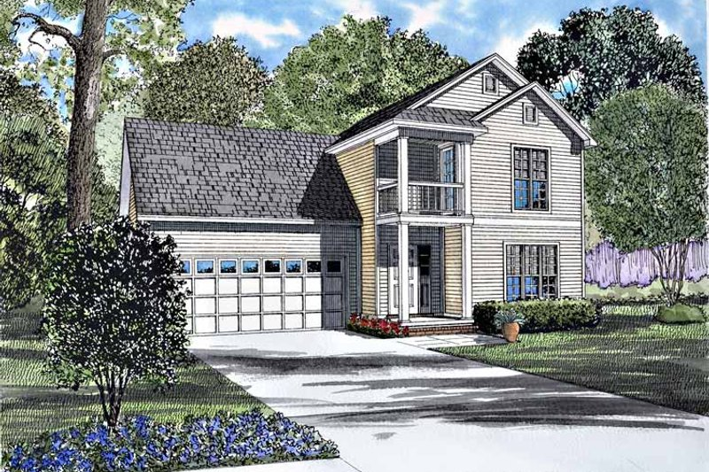 Dream House Plan - Classical Exterior - Front Elevation Plan #17-3190