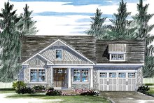 Colonial Exterior - Front Elevation Plan #316-283