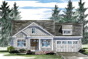Dream House Plan - Colonial Exterior - Front Elevation Plan #316-283