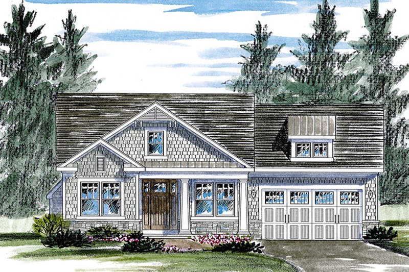 Home Plan - Colonial Exterior - Front Elevation Plan #316-283