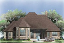 Cottage Exterior - Rear Elevation Plan #929-854