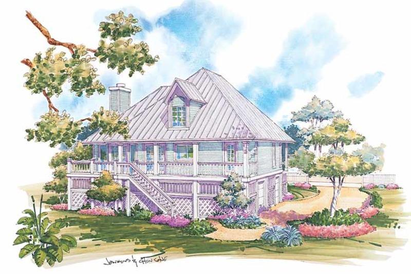 Country Exterior - Rear Elevation Plan #930-31 - Houseplans.com