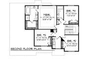 Mediterranean Style House Plan - 4 Beds 2.5 Baths 2189 Sq/Ft Plan #70-1095 Floor Plan - Upper Floor Plan