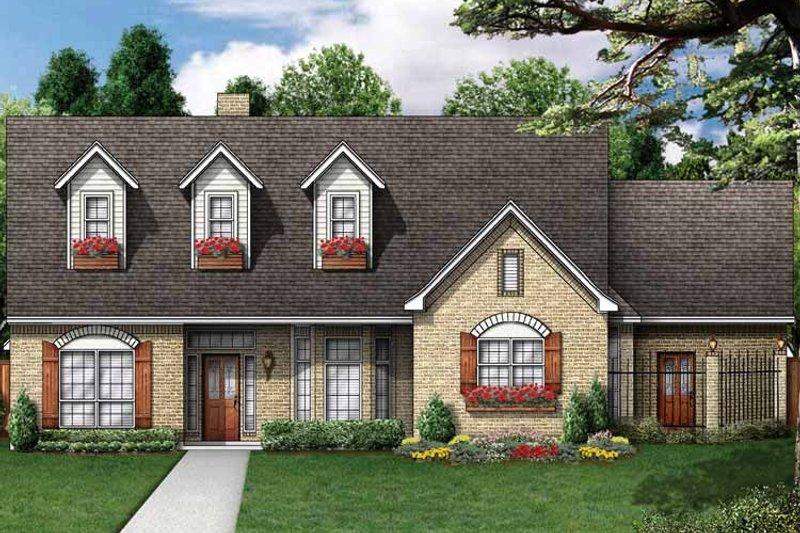 Colonial Exterior - Front Elevation Plan #84-705 - Houseplans.com