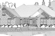 Traditional Style House Plan - 4 Beds 2.5 Baths 2802 Sq/Ft Plan #63-168 Exterior - Front Elevation