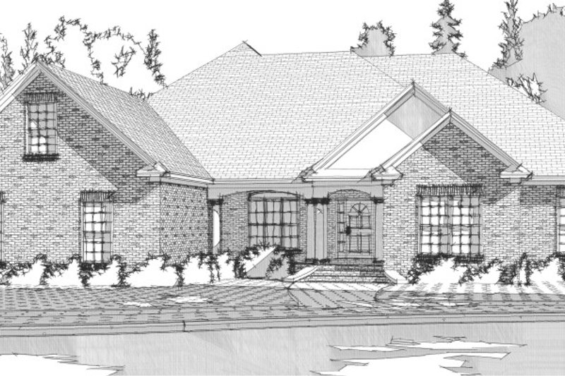 Traditional Exterior - Front Elevation Plan #63-168