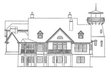 Country Exterior - Rear Elevation Plan #54-327