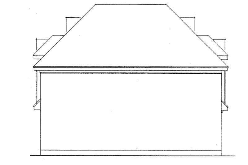 Exterior - Rear Elevation Plan #410-3578 - Houseplans.com