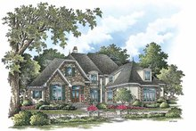 European Exterior - Front Elevation Plan #929-855