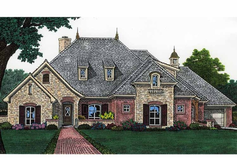 Country Exterior - Front Elevation Plan #310-1205 - Houseplans.com
