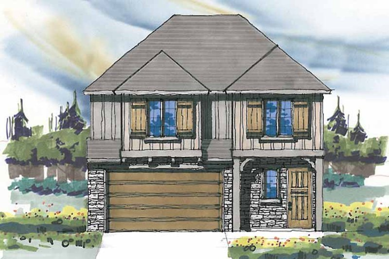 Prairie Exterior - Front Elevation Plan #509-236