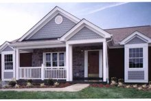 Craftsman Exterior - Front Elevation Plan #46-670