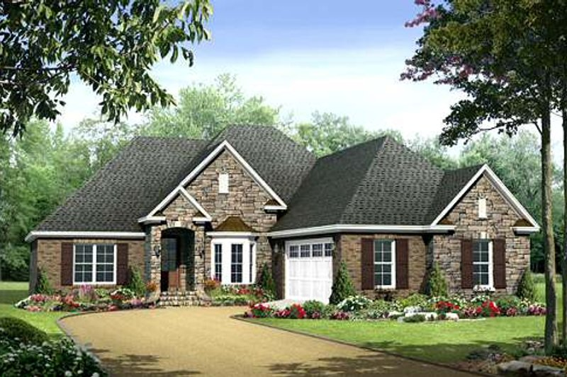 Dream House Plan - European Exterior - Front Elevation Plan #21-281
