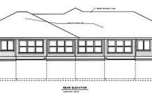 House Design - Traditional Exterior - Rear Elevation Plan #100-106