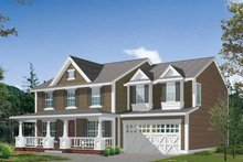 Dream House Plan - Country Exterior - Front Elevation Plan #132-310